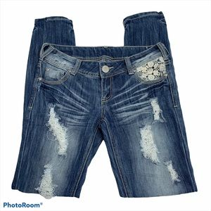 Almost Famous Distressed Skinny Jeans